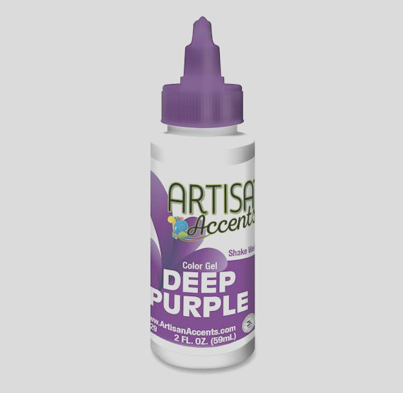 artisan accents deep purple color gel food coloring