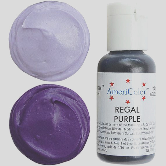 americolor regal purple soft gel paste food color 75 oz