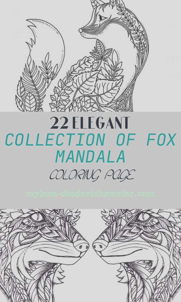 Fox Mandala Coloring Page Inspirational Printable Mandala Fox Coloring Page