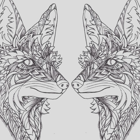 mandala fox coloring pages