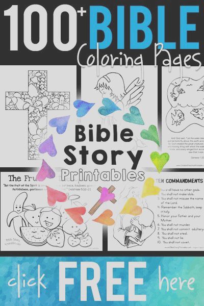 100 free printable bible coloring pages