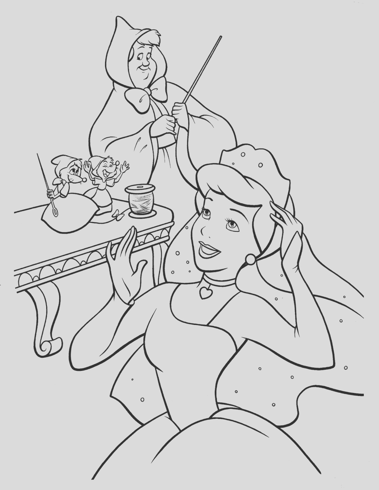 cinderella free printable coloring pages