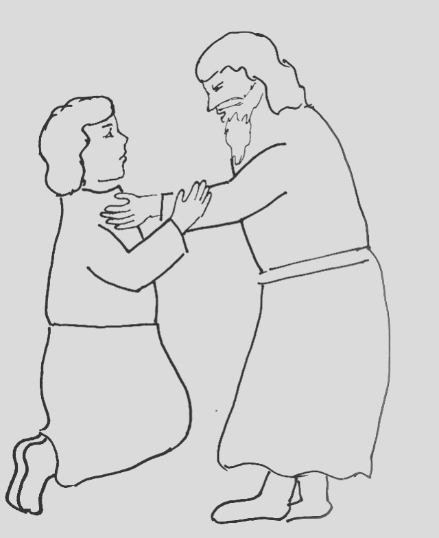 bible story coloring page for jesus teaches forgiveness