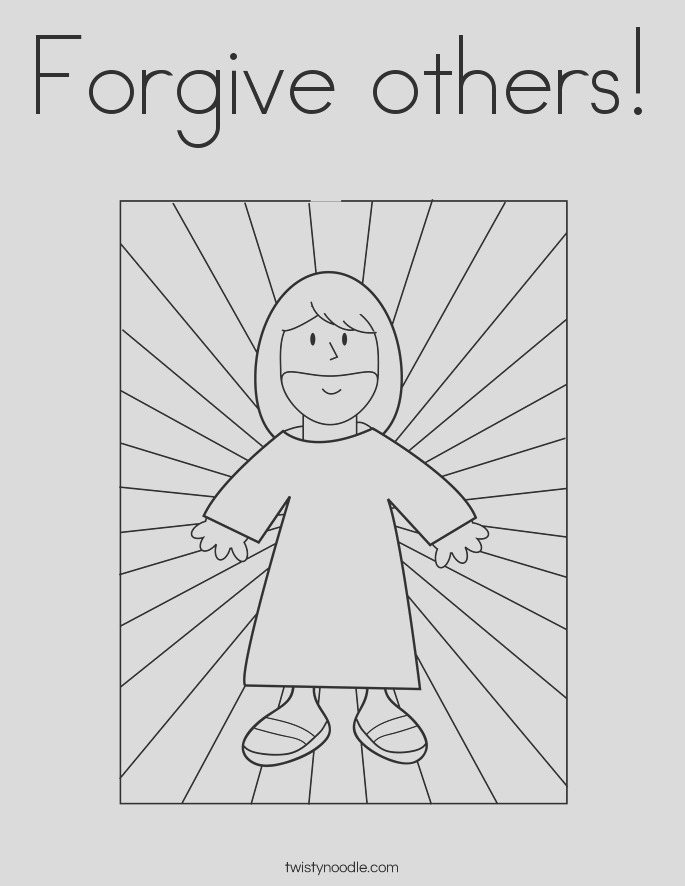 jesus forgiveness coloring page