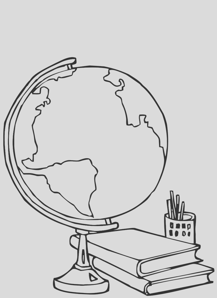 globe coloring pages 0