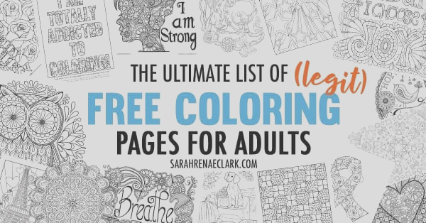 ultimate list free coloring pages for adults