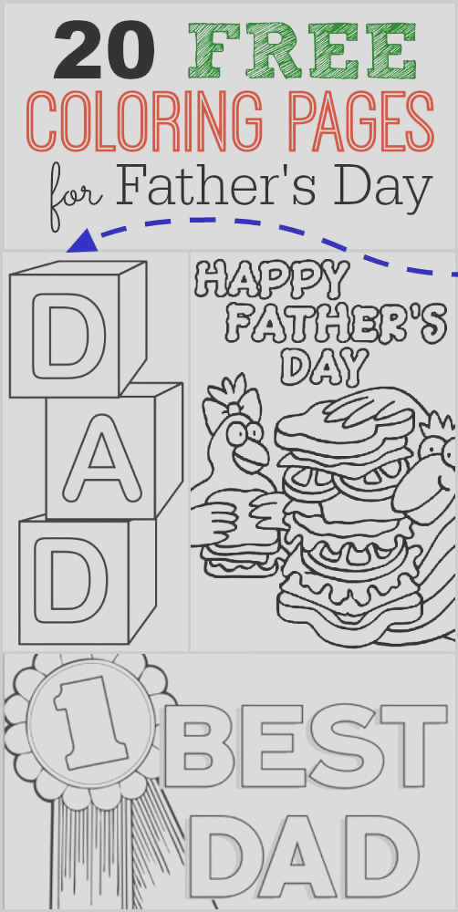 20 free fathers day coloring pages