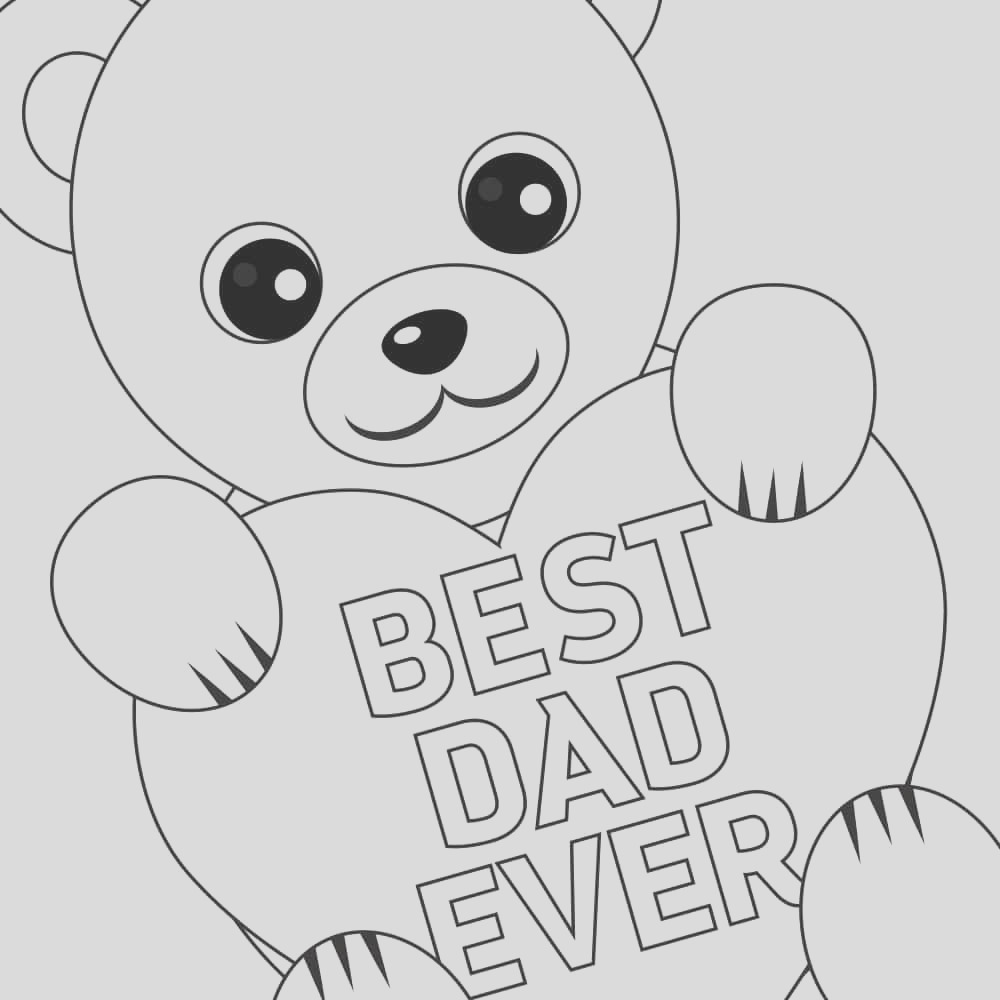 printable fathers day coloring card
