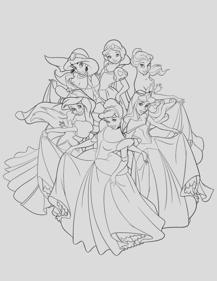 free disney princess coloring pages to print