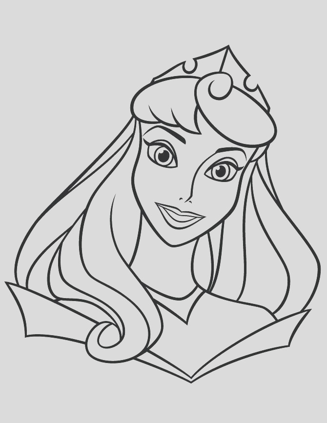 easy princess coloring pages