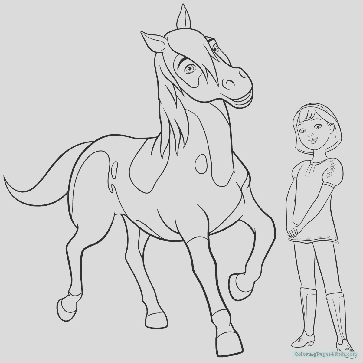 spirit riding free coloring pages 102