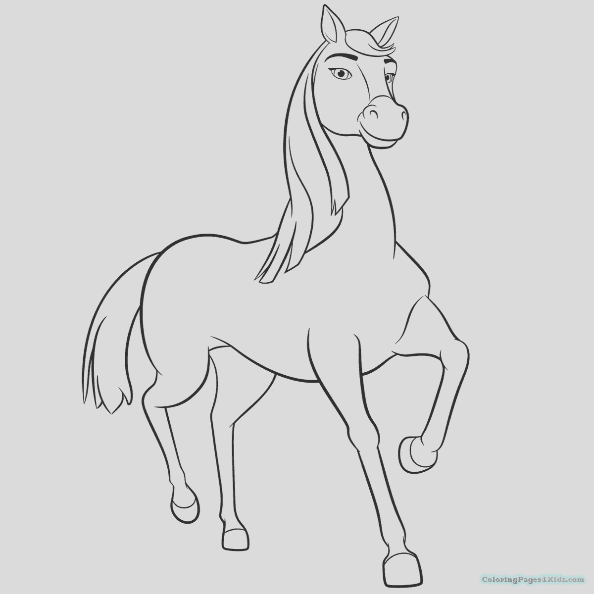 spirit riding free coloring pages 1013