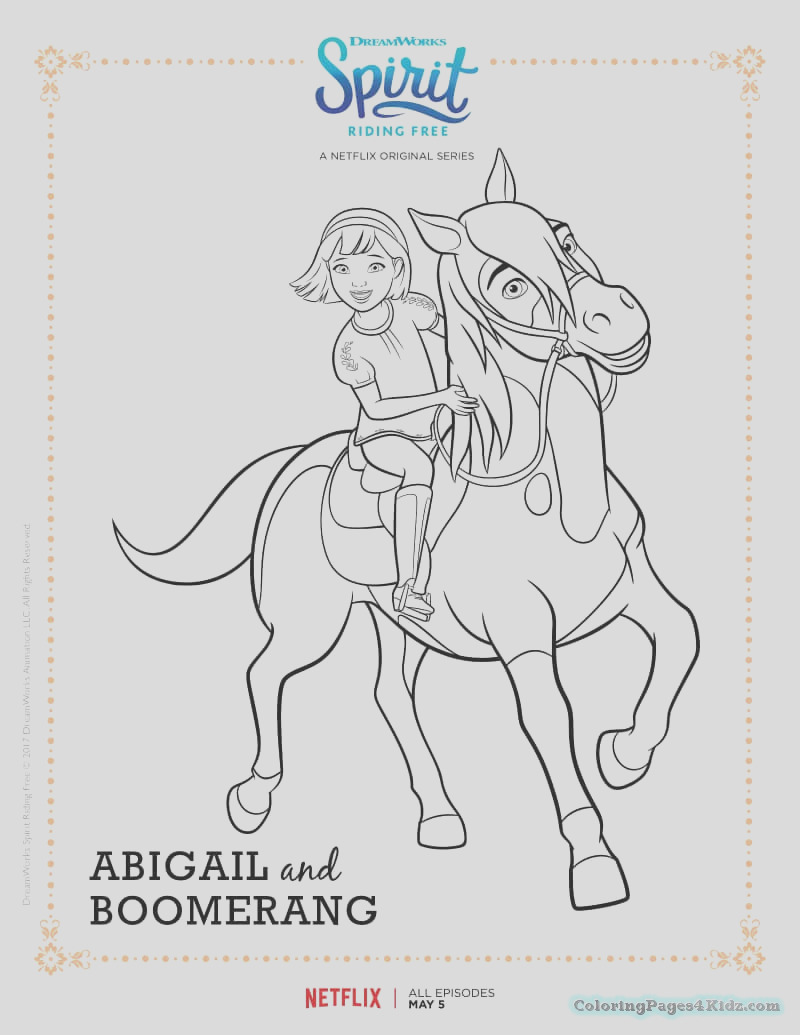 spirit riding free coloring pages 101