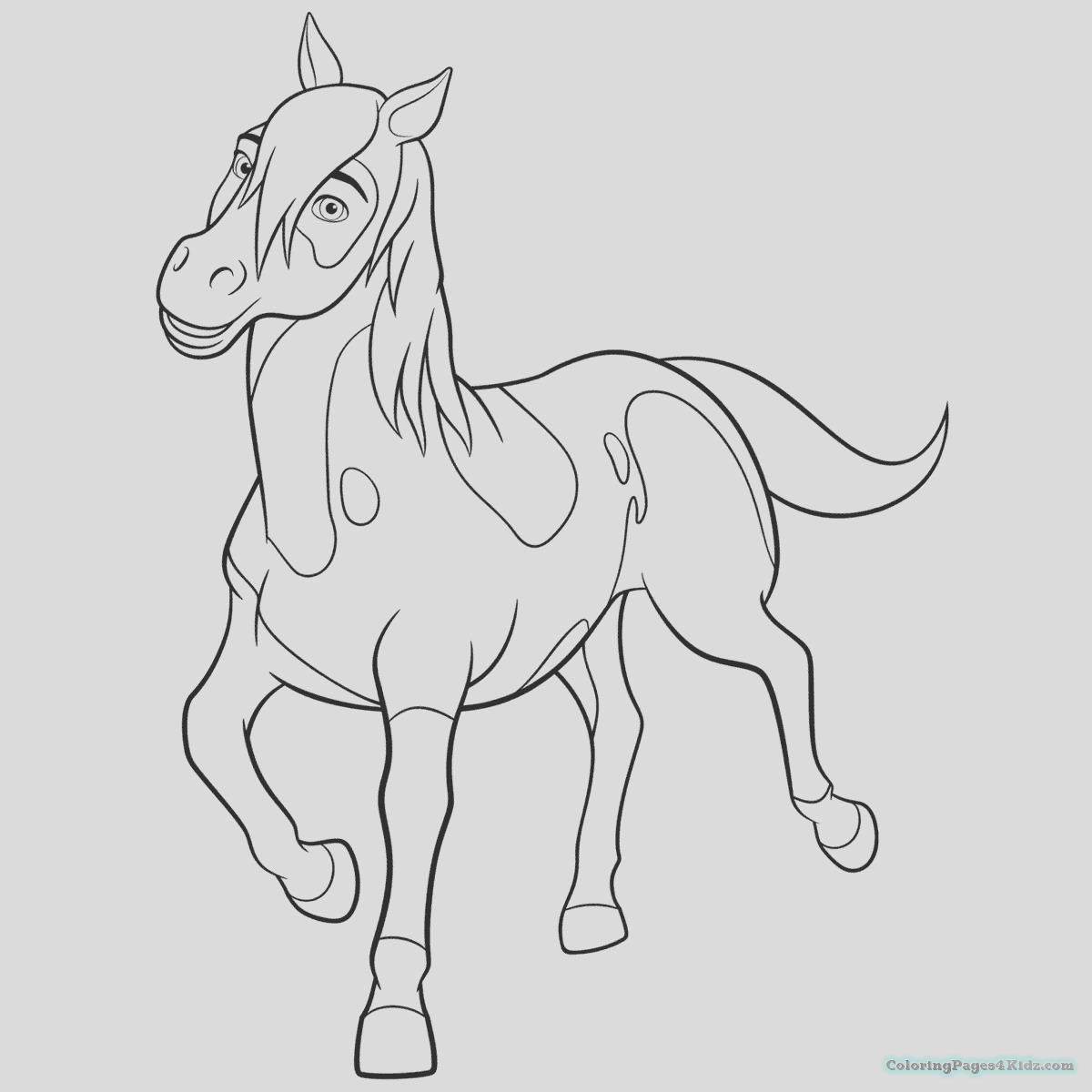 spirit riding free coloring pages 1016
