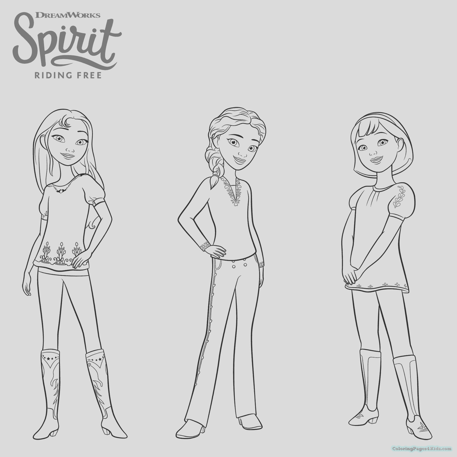 spirit riding free coloring pages 1014
