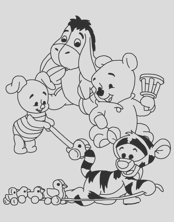printable winnie the pooh coloring pages