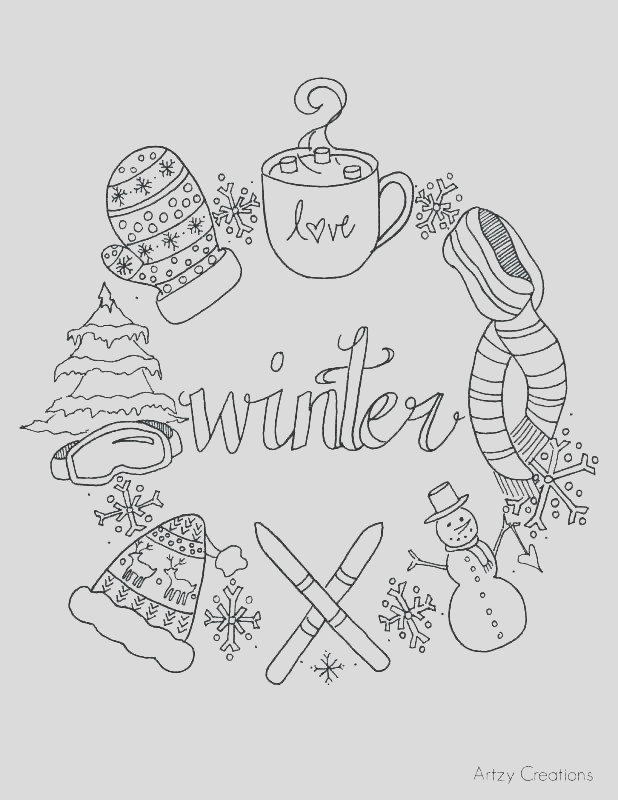 crayola coloring pages winter
