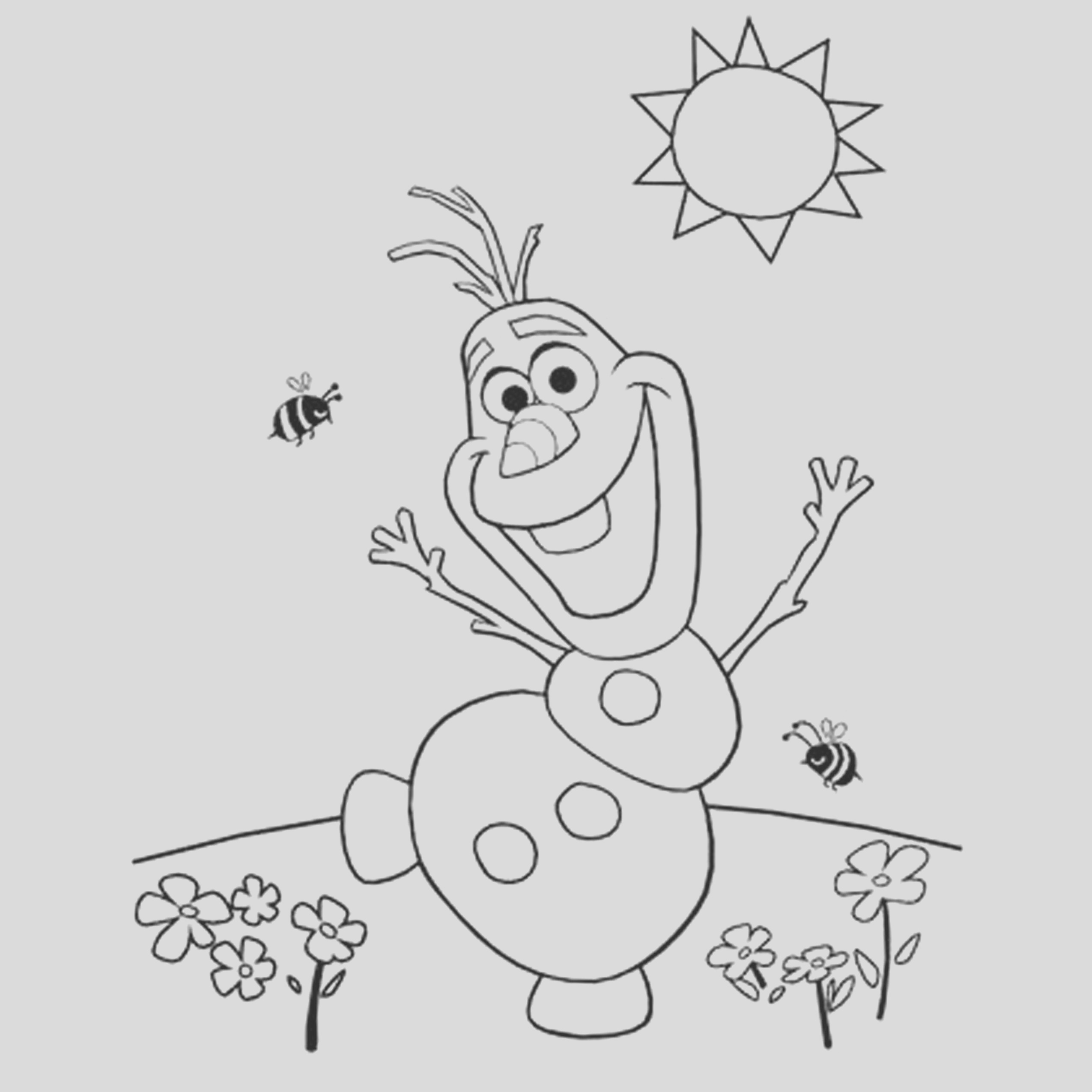 frozen drawing for kids