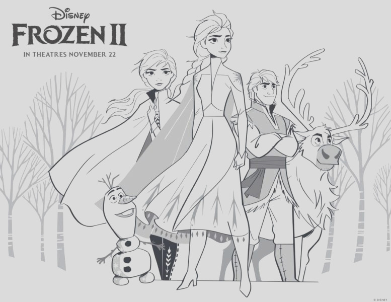 frozen 2 printable coloring pages