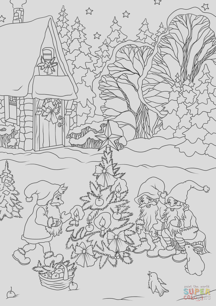 christmas gnomes are decorating a tree