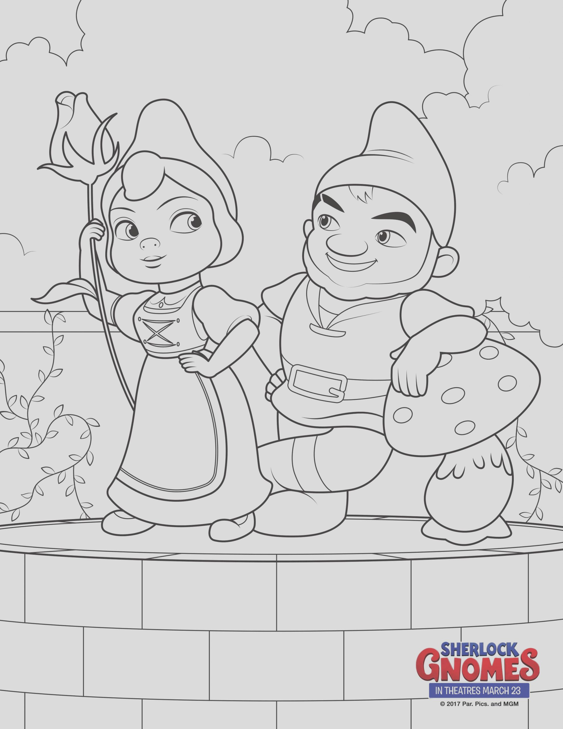sherlock gnomes coloring sheets