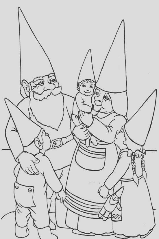 4 best gnome coloring pages for kids