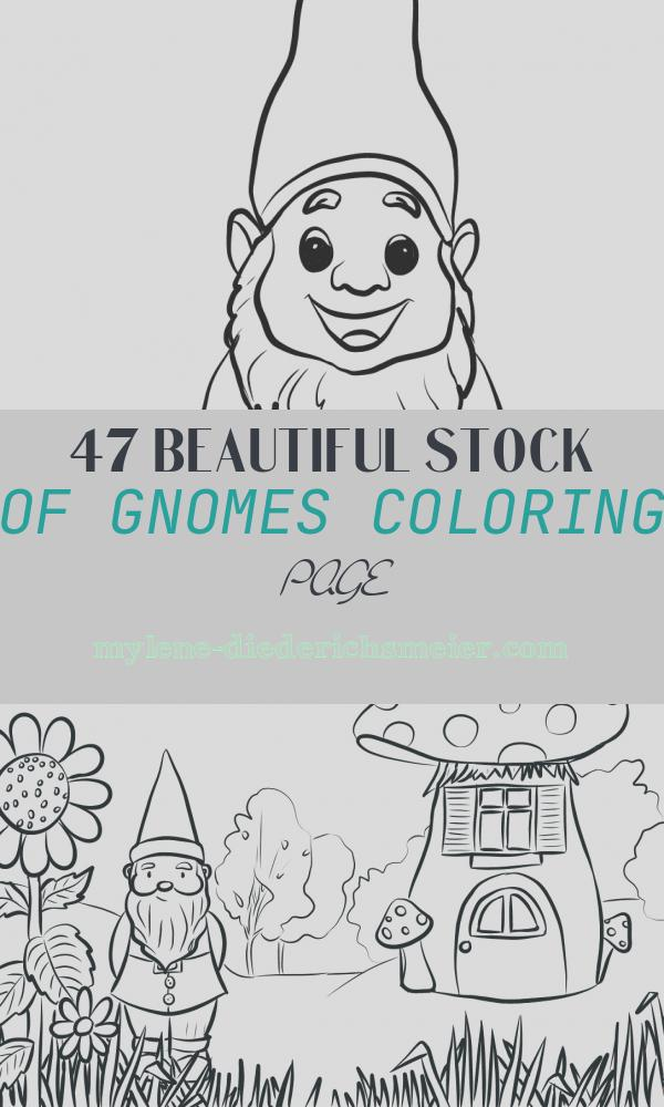 Gnomes Coloring Page New Cute Gnome Coloring Page