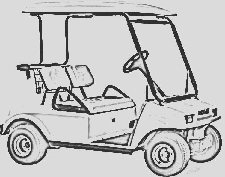 lifted golf cart pages sketch templates