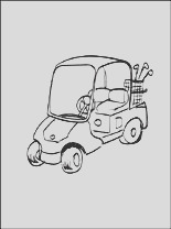 golf cart coloring page