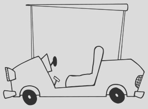 golf cart coloring page 0521 1006 2812 3517