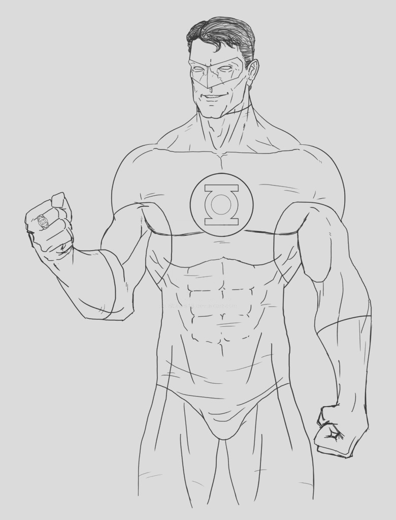 new green lantern coloring pages