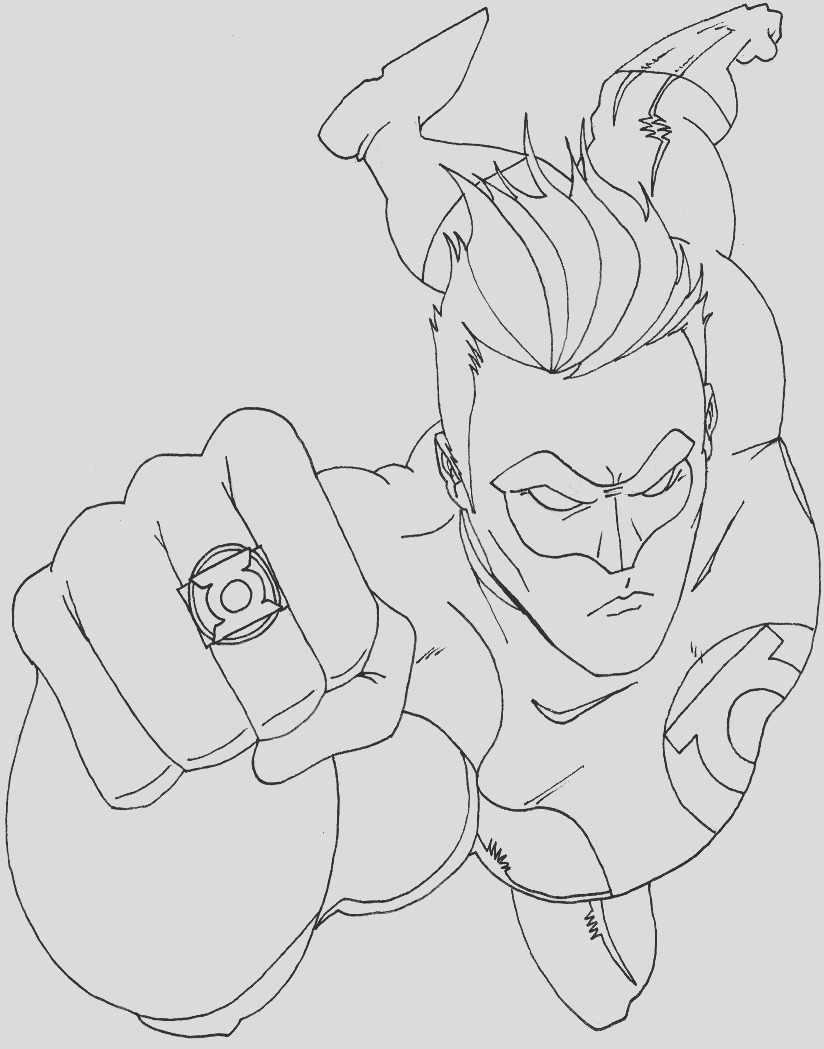 green lantern coloring pages 2