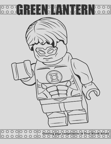 lego colouring page green lantern