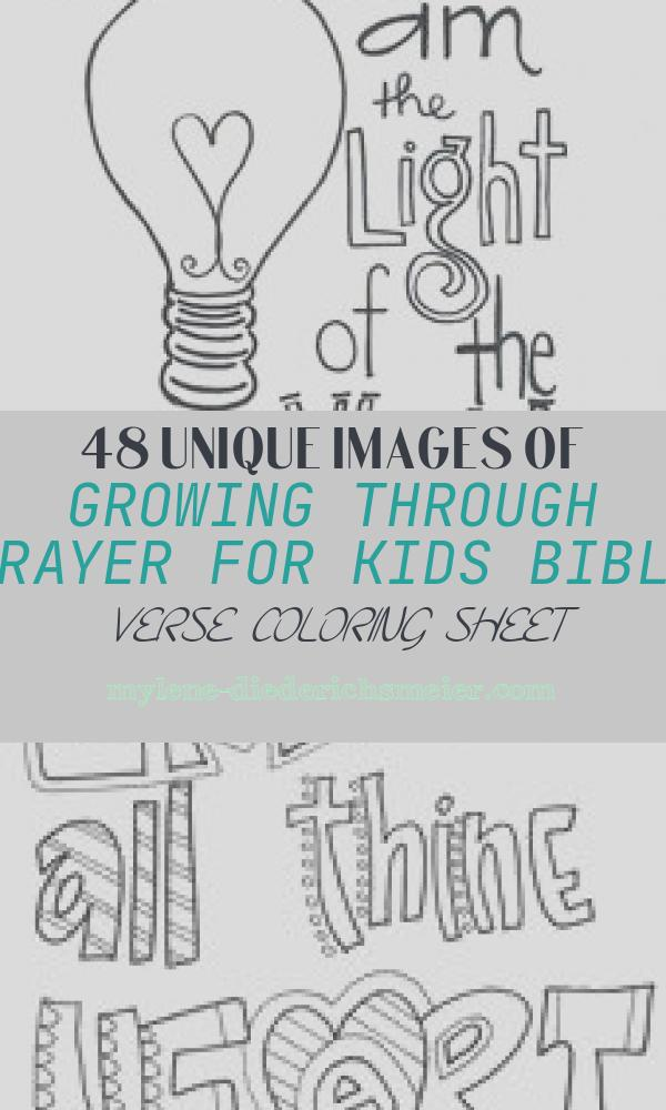 Growing Through Prayer for Kids Bible Verse Coloring Sheet Awesome Growing Through Prayer for Kids Bible Verse Coloring