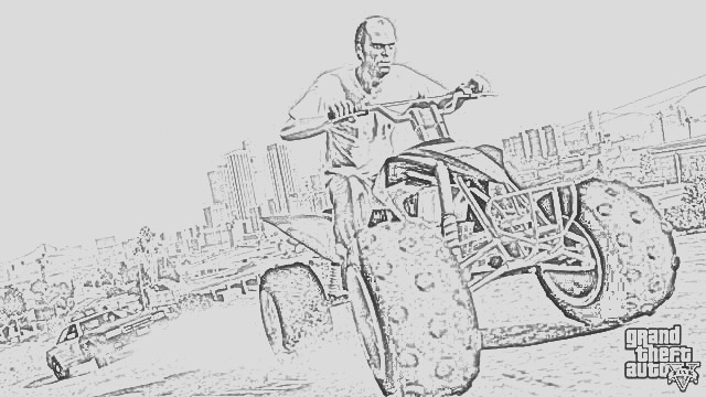 grand theft auto coloring pages free