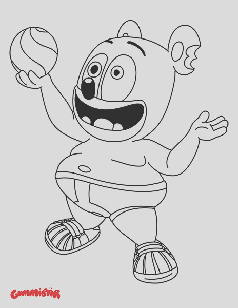 gummibar the gummy bear coloring page