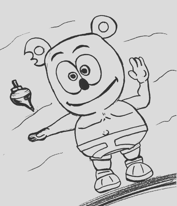gummy bear coloring pages 2