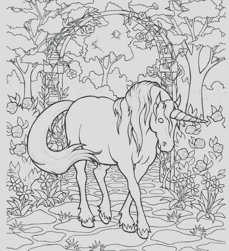 hard unicorn coloring pages to print