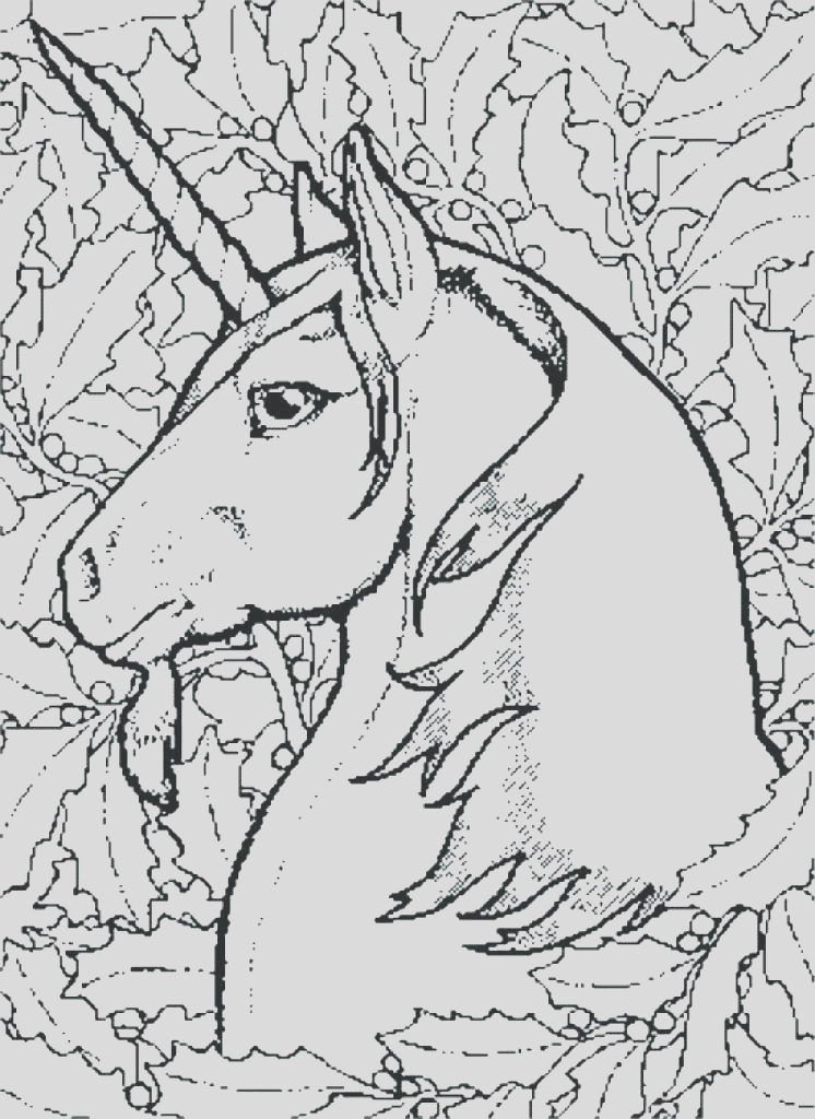 christmas unicorn coloring pages
