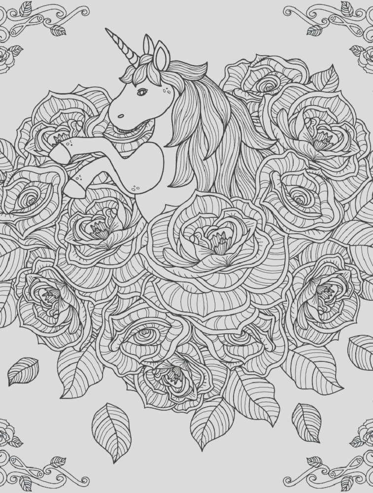hard coloring pages unicorn