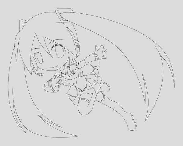 miku coloring pages