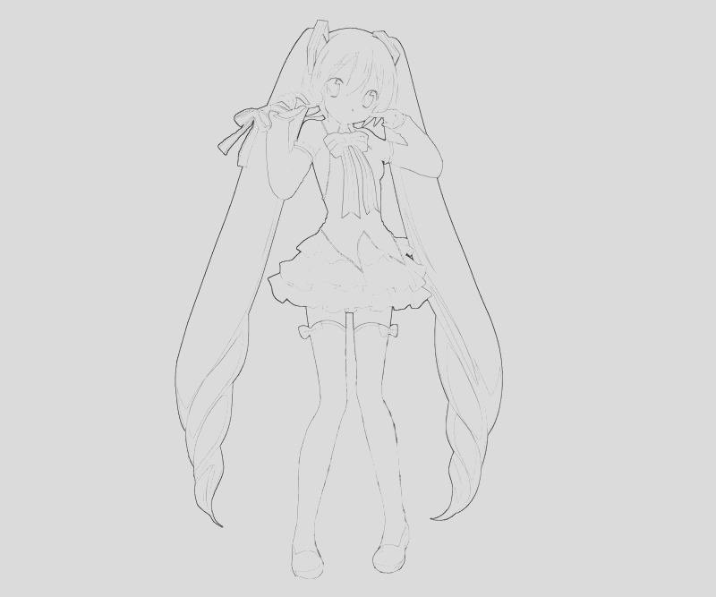 miku hatsune coloring pages