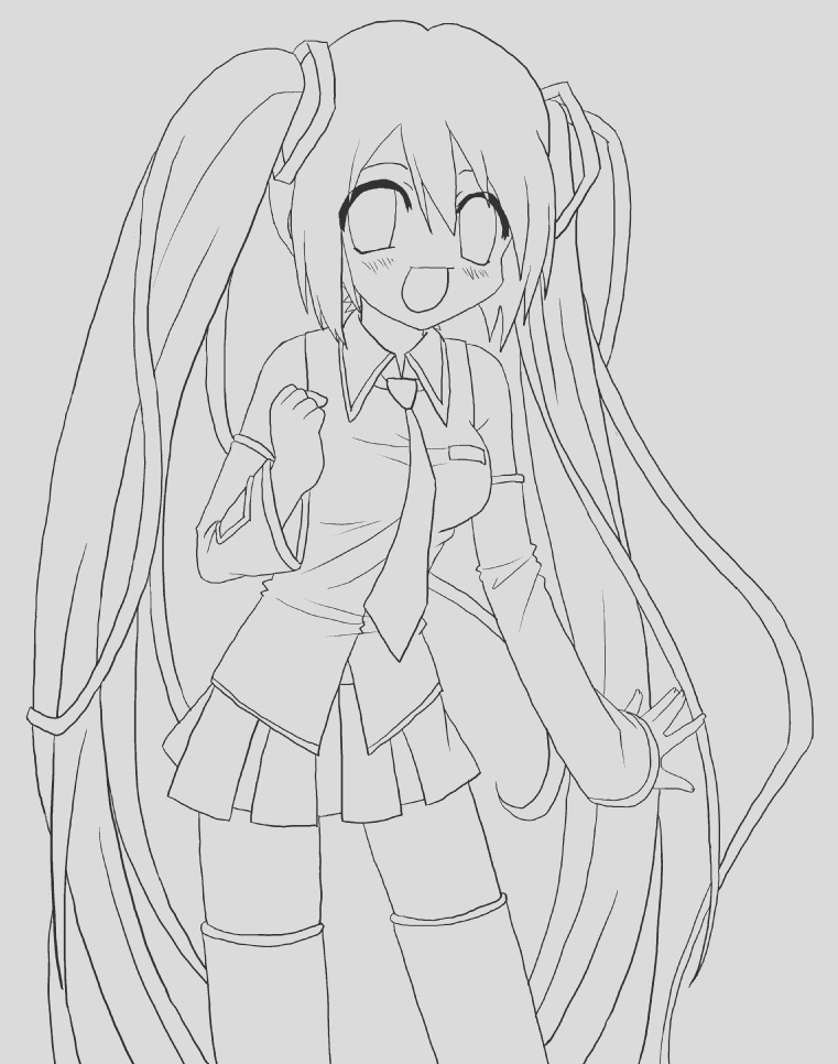 hatsune miku coloring pages