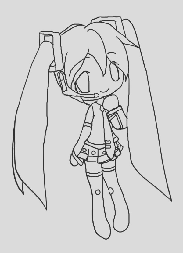miku hatsune drawing