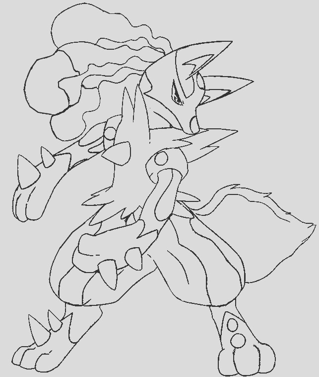 mega hawlucha pokemon coloring pages sketch templates