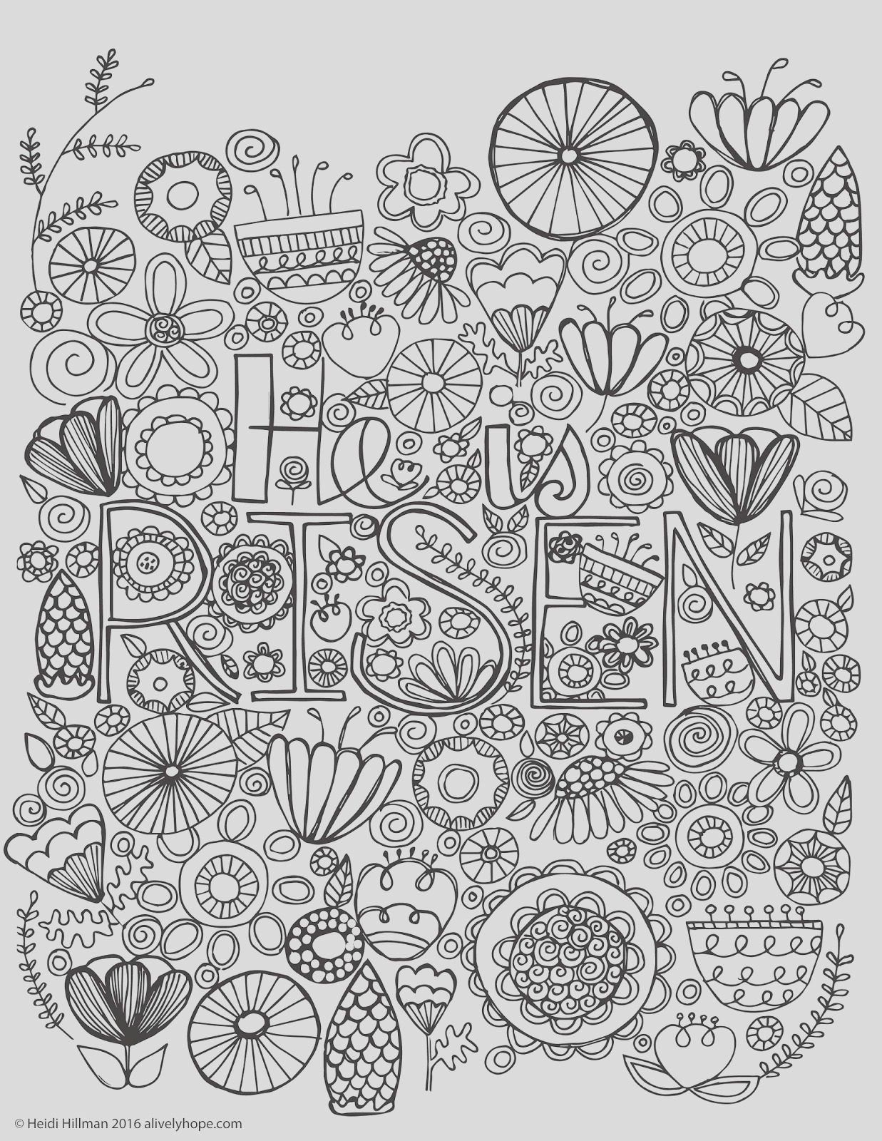 he is risen coloring page free