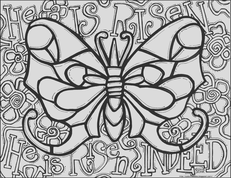 he is risen indeed butterfly coloring