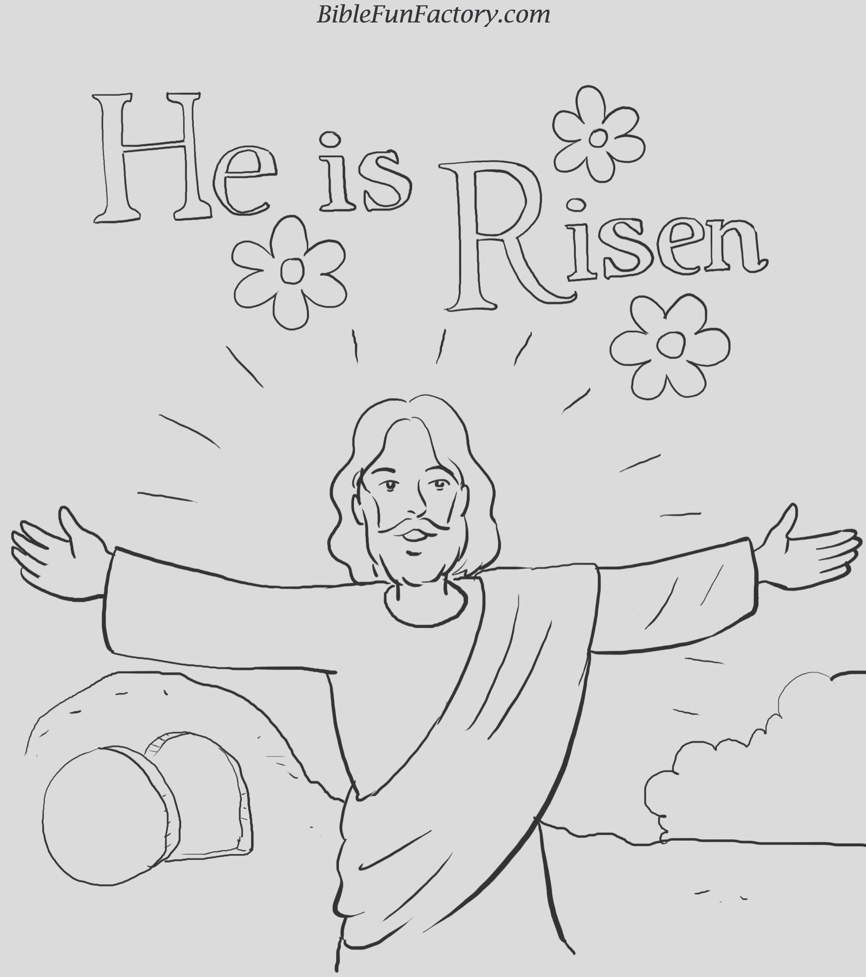 easter coloring sheet