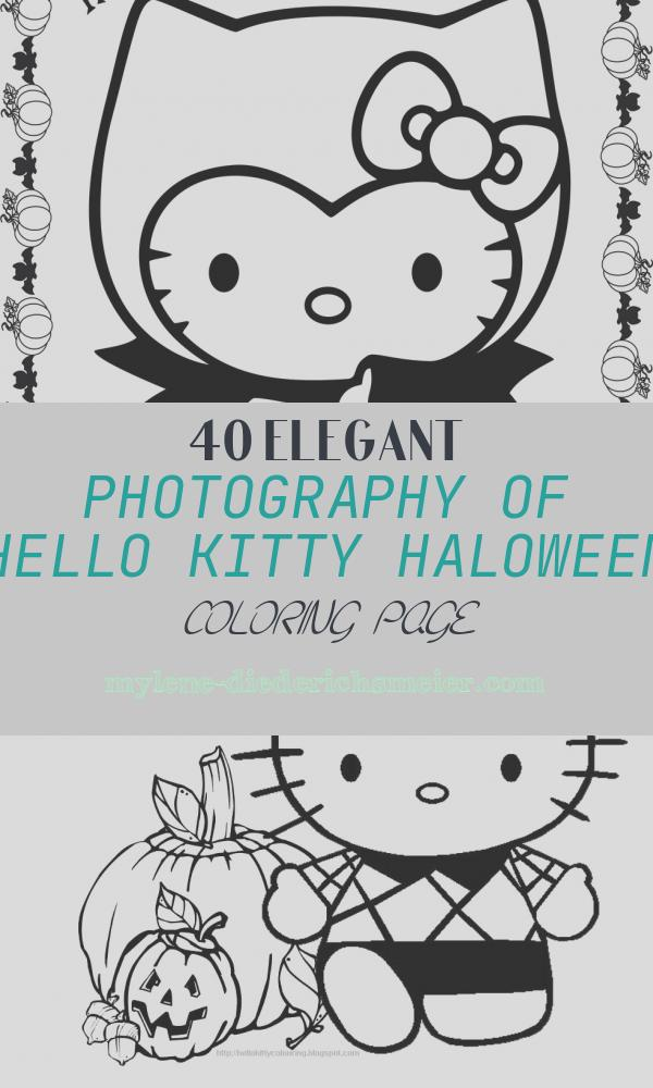 Hello Kitty Haloween Coloring Page Inspirational Hello Kitty Halloween Coloring Pages