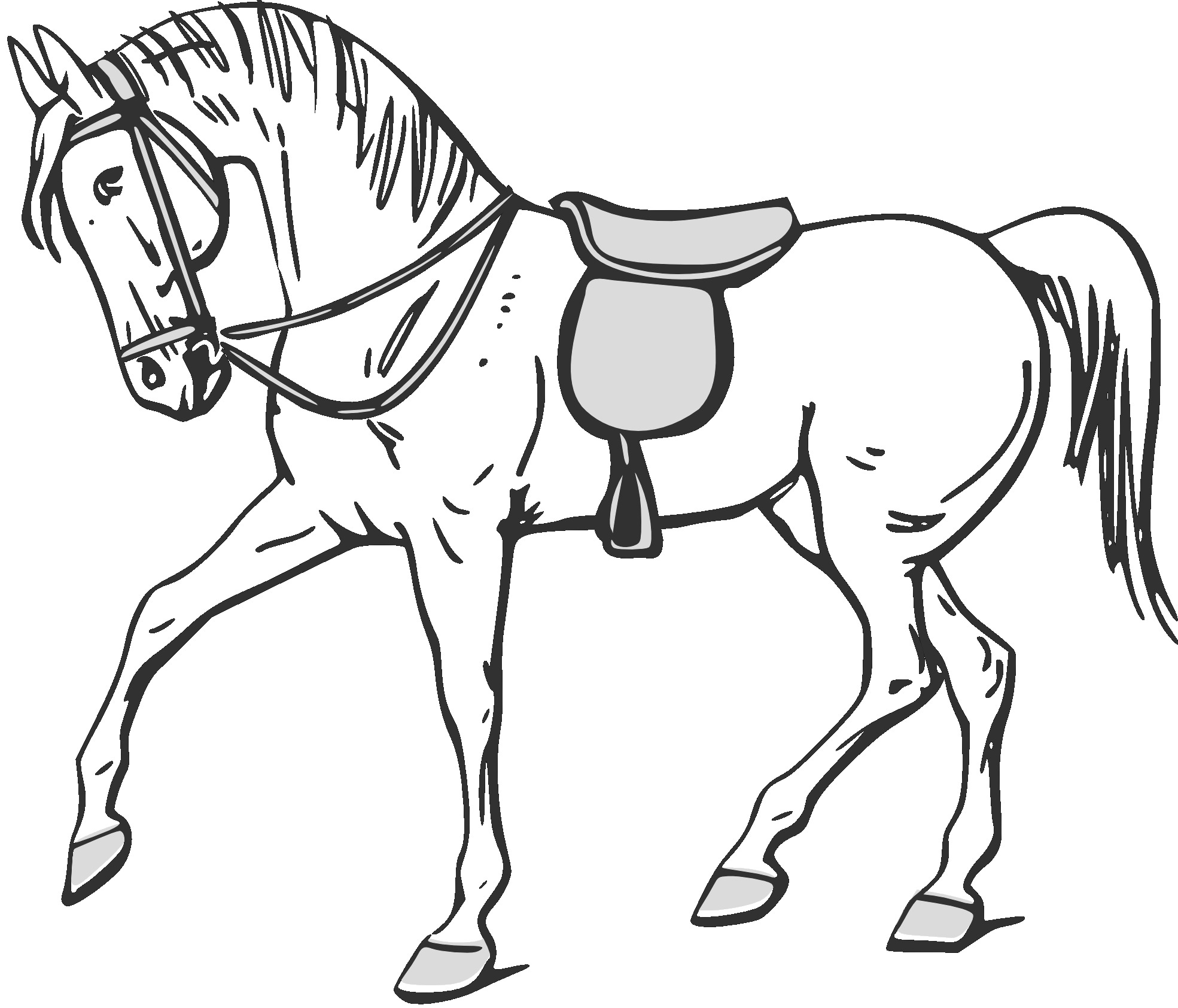 printable horse outline